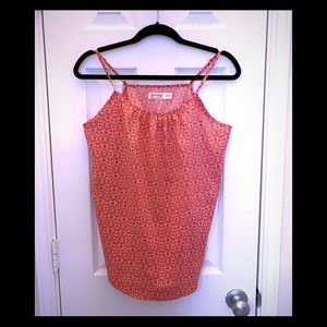 Faded Glory red white patterned tank size medium 8